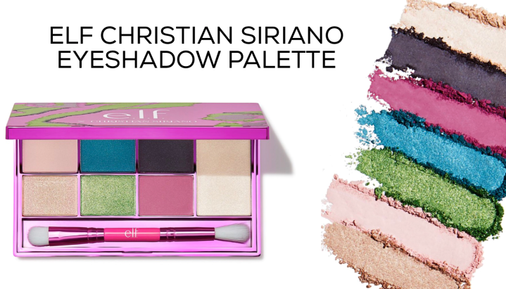 Elf Christian  SIRIANO EYESHADOW PALETTE Looks and Review