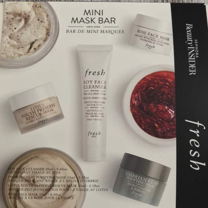 Sephora Fresh 500 Points Beauty Insider Rewards Unboxing – Mini Mask Bar.