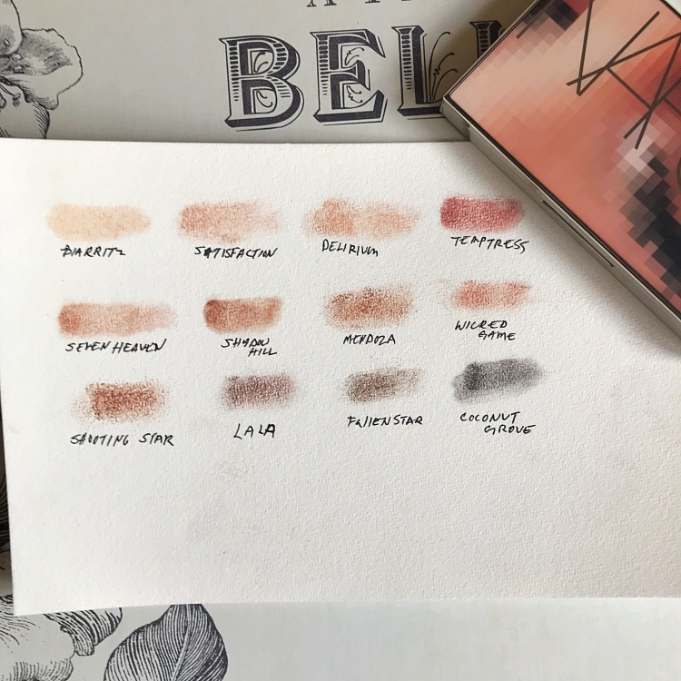 Bold and high pigmentation in these swatches for the NARSissist NARS Wanted Palette