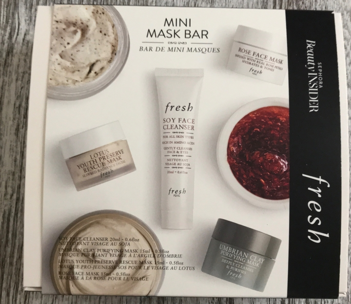 Sephora Beauty Insider 500 Point Reward Fresh Beauty Unboxing 2018 Rose Mask Spy Cleanser