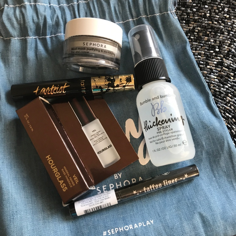 Sephora Play Beauty Bag May 2018 Unboxing Tarte Sephora Collectiion Kat Von D Bumble Chloe Beauty Box