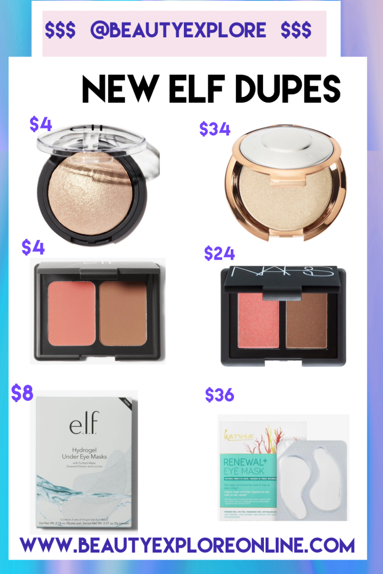 New elf dupes Becca dupes NARS dupes eye pads Sephora  and more
