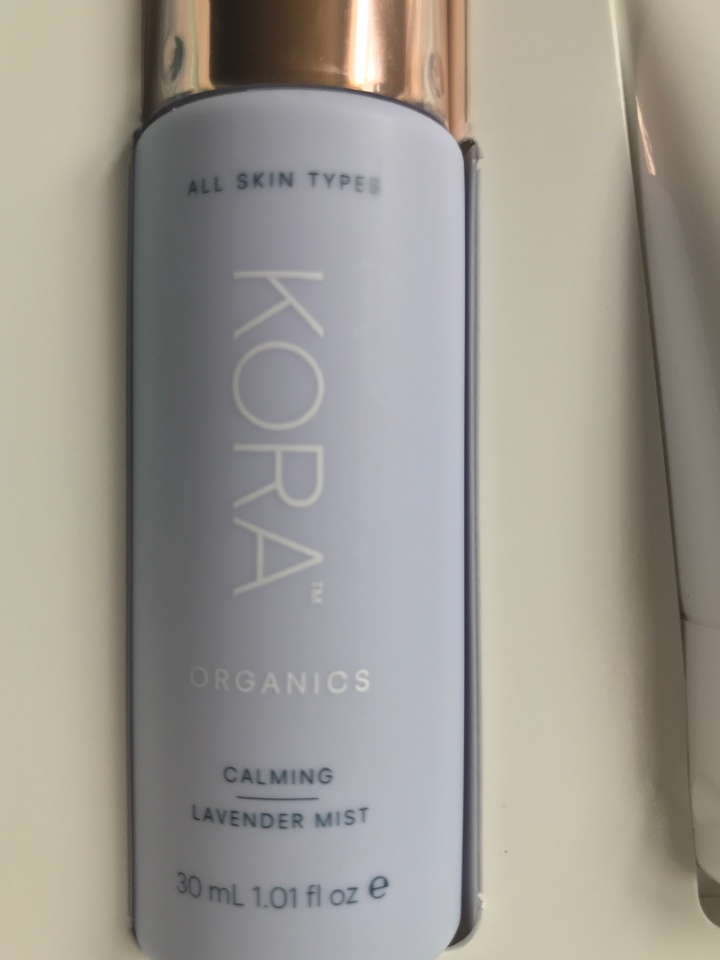 photo kora Organics calming lavender spray - Unboxing daily ritual set from Sephora for Sensitive Skin