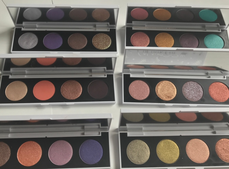 Colourpop Custom 4 shadow palettes by Beauty Explore Online
