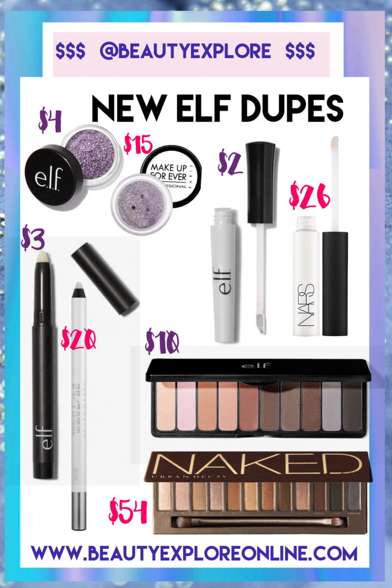 BEST DRUGSTORE DUPES – NEW ELF DUPES PART 6 NEW 2018 – Glitter EYES and the Ultimate NAKED DUPE