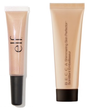 Becca's skin profector liquid highlighter dupe for on $4 by elf cosmetics