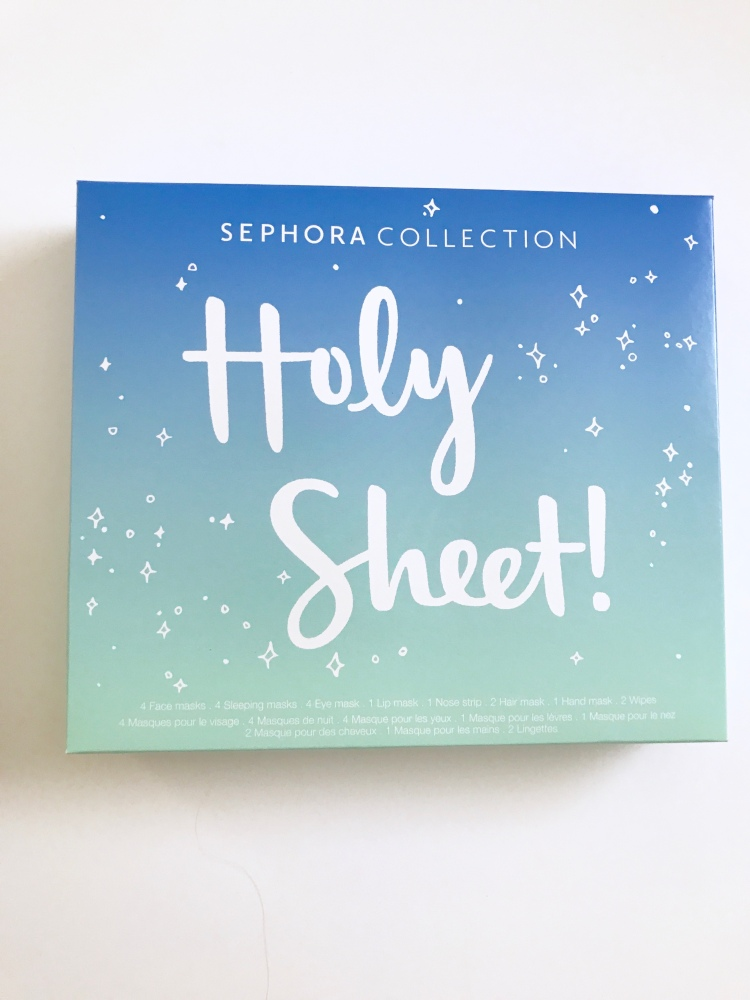 Front of box SEPHORA COLLECTION HOLY SHEET! Set