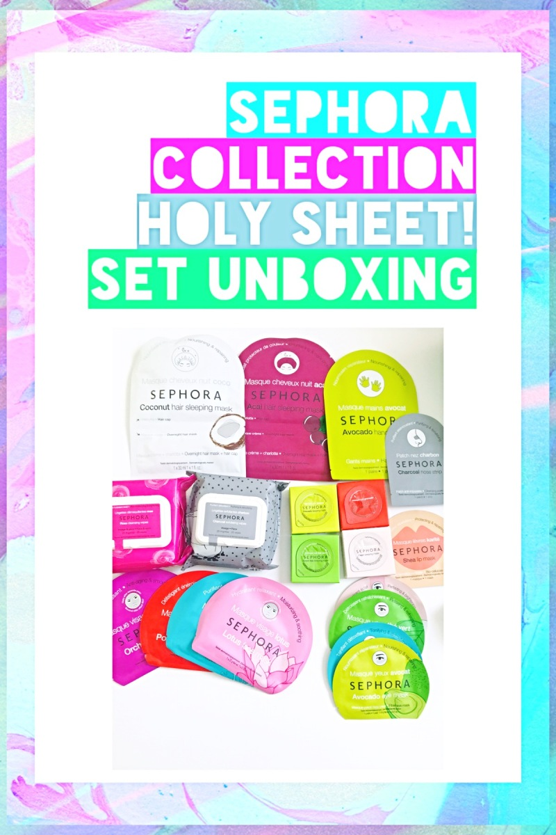 SEPHORA COLLECTION HOLY SHEET! Set Unboxing (Includes giveaway a masks!!)