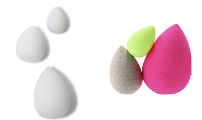 Authentic Beauty blender dupes!  Don't be fooled by other brands! Elf's sponge trio may look boring but for just $12 you get 3 different sizes compared to $40+ for 2.  These are the closest you will get to the real deal!
