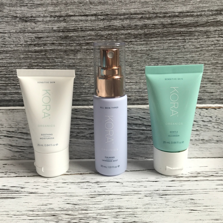 kora Organics daily ritual skin care set sensitive skin Review
