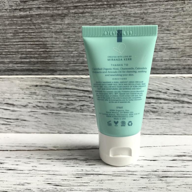 photo of package kora Organics Sephora Unboxing gentle cleanser Sensitive Skin Beauty explore