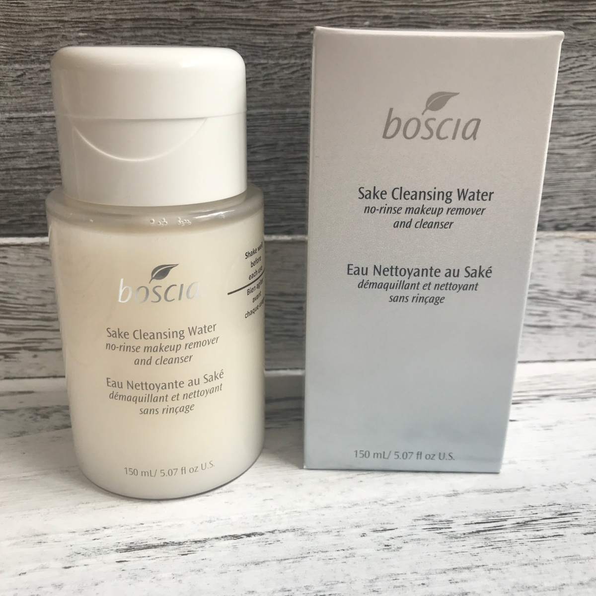 BOSCIA Sake Cleansing Water No-Rinse Makeup Remover and Cleanser
