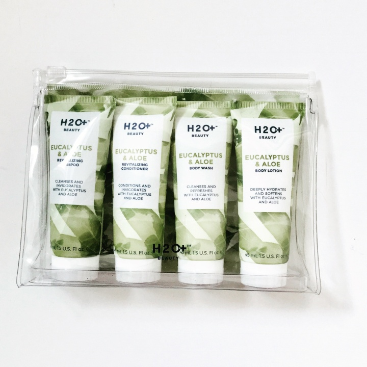 eucalyptus travel set by H2oplus beauty