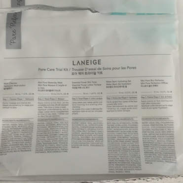 Laneige Pore Care Trial Kit Unboxing