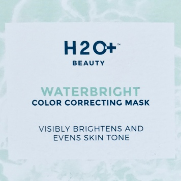 H2oplus Beauty waterbright color correcting mask