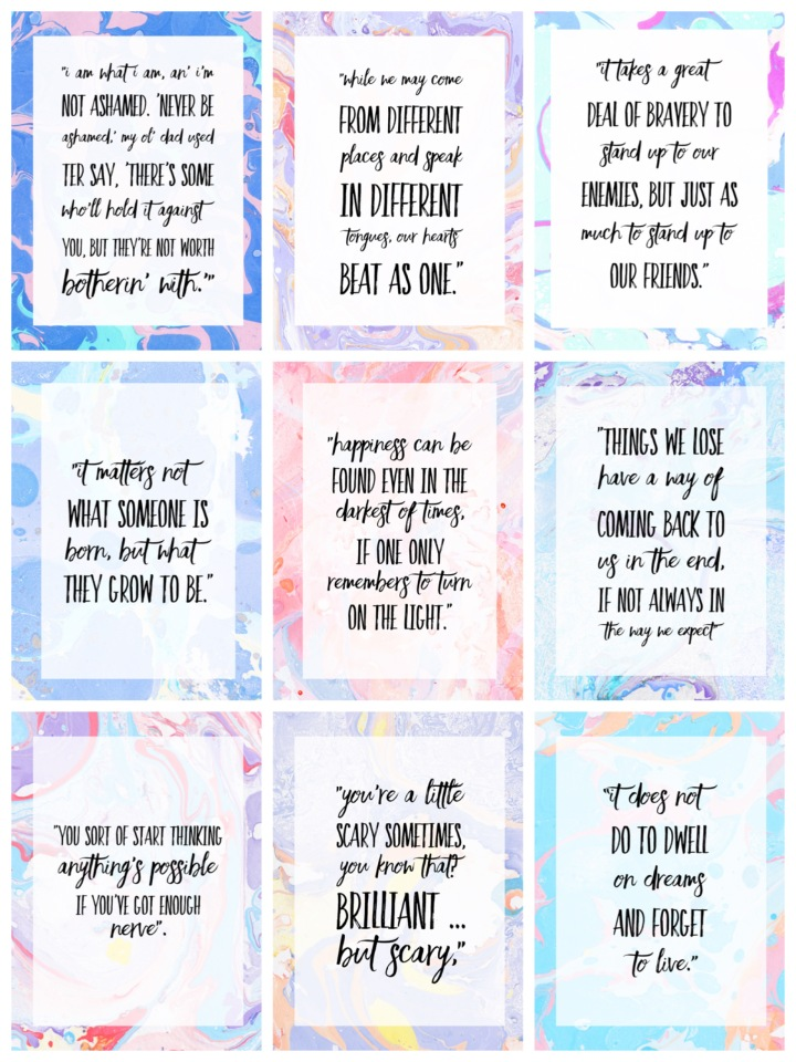 Free Harry Potter Quotes Free Printable Set! By Beauty Explore Online Free Printables