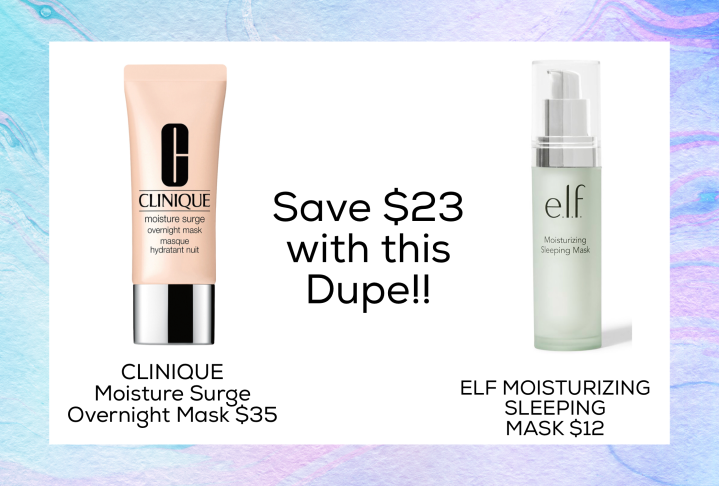 Drugstore Dupe for Clinique Moisture Surge Overnight Mask