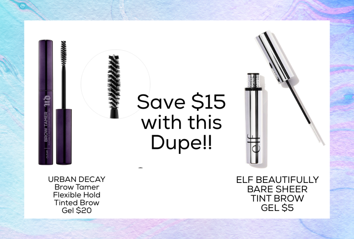 Drugstore Dupe for Urban Decay's Brow Tamer Flexible Hold Tinted Brow Gel