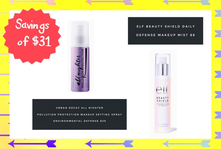 Dupe for urban decay pollution protection makeup spray environmental defense