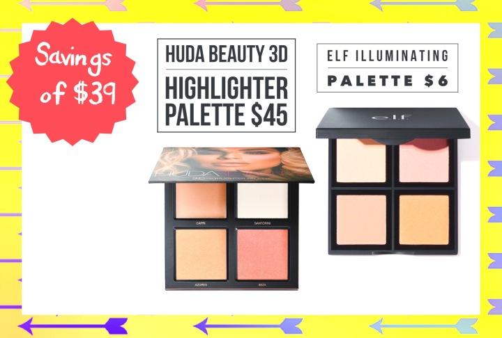 dupe for huda beauty highlighter palette