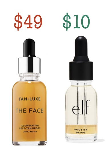 Dupe for tan-Lux the face - elf sun kissed booster drops