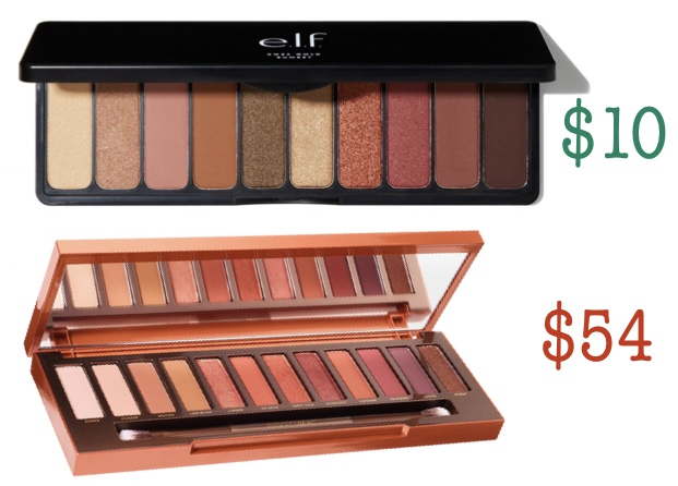 Elf rose gold palette dupe for urban decay's naked heat palette