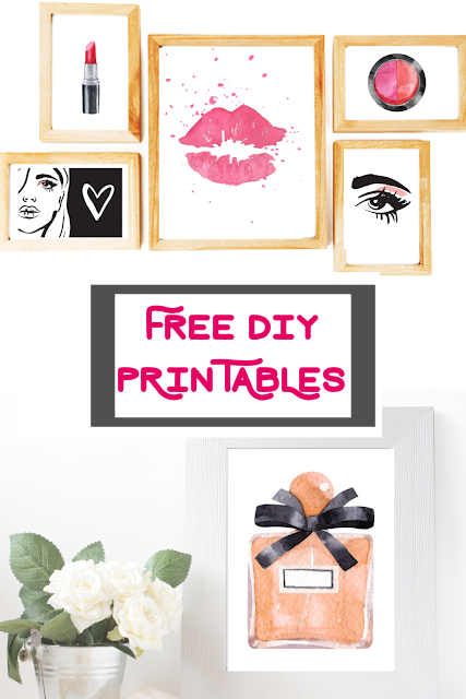 Glamour Art Prints – Free Printables for your bathroom or beautystation!
