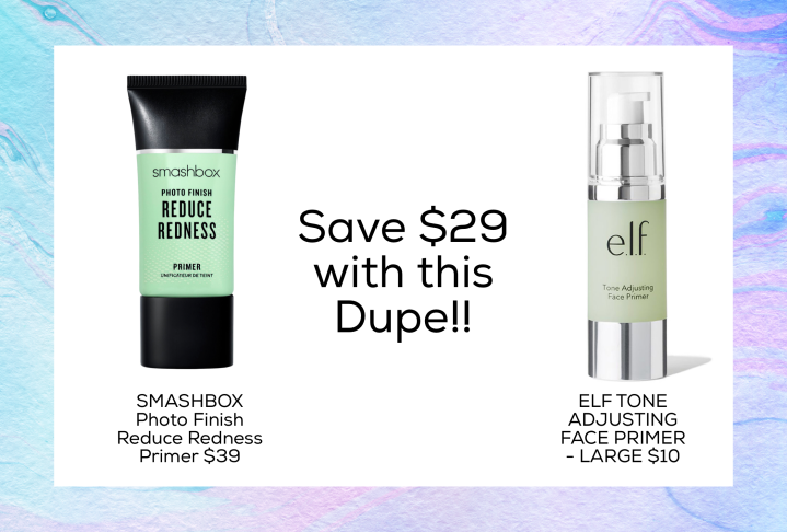 drugstore dupe for smashbox photo finish reduce redness primer