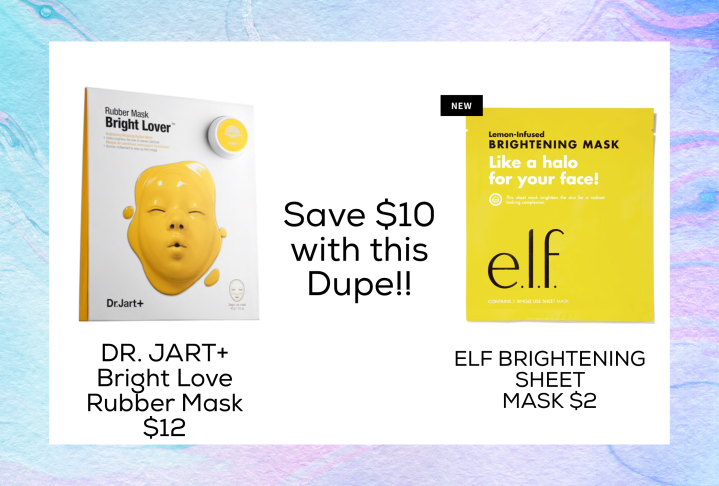 the best Drugstore dupes of 2018 - Dr Jart Masks and more