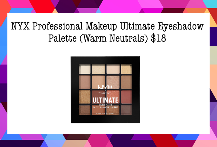 Best Drugstore Makeup 2. NYX Professional Makeup Ultimate Eyeshadow Palette (Warm Neutrals) $18