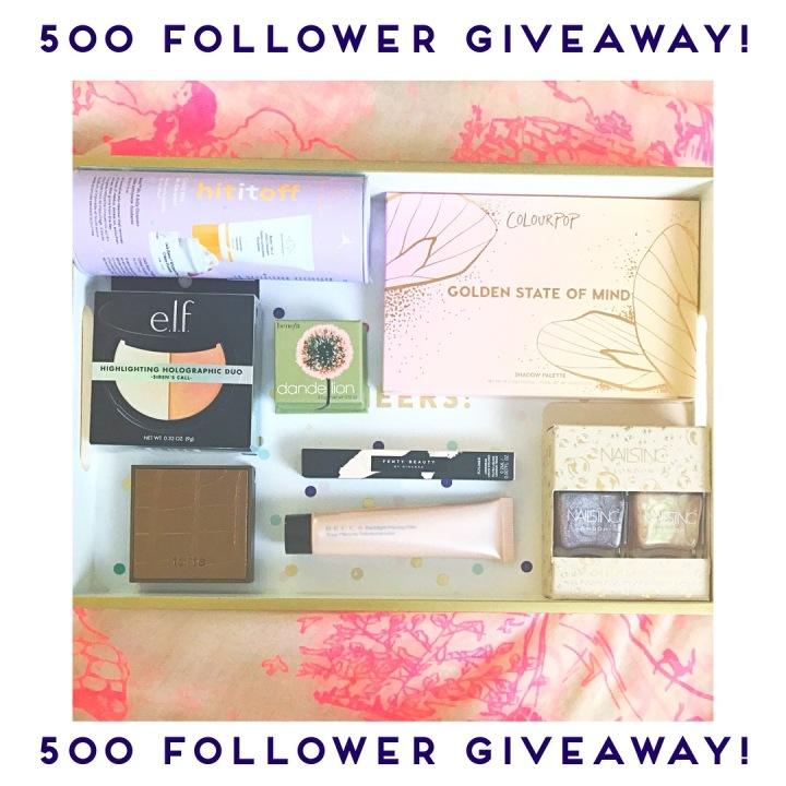 Beauty Explore Online Instagram Giveaway!  500 Follower Celebration!  (It's happening here too!!)