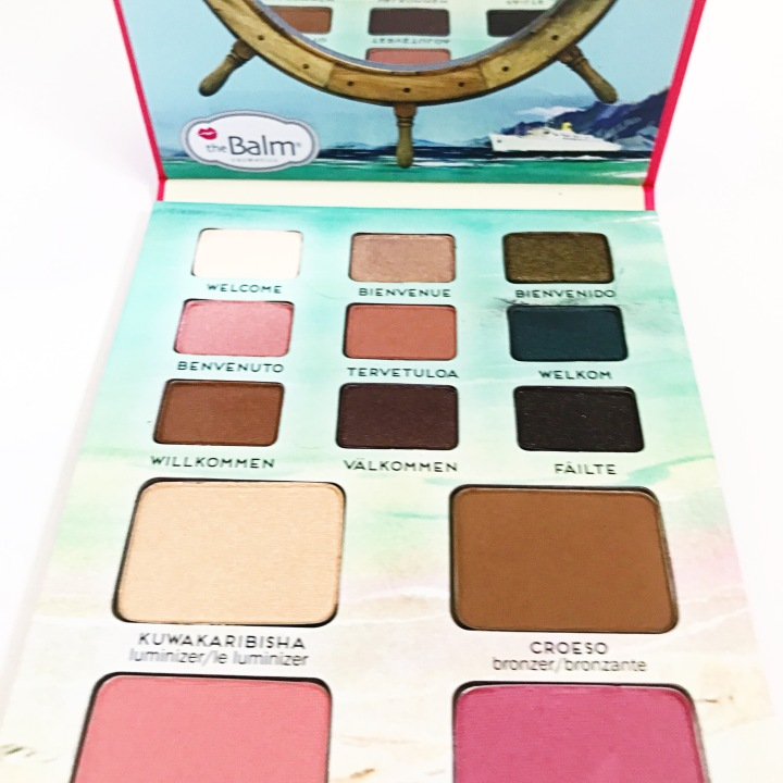Inside photos of TheBalm Voyage® Vol.2 $38.50 palette 2018