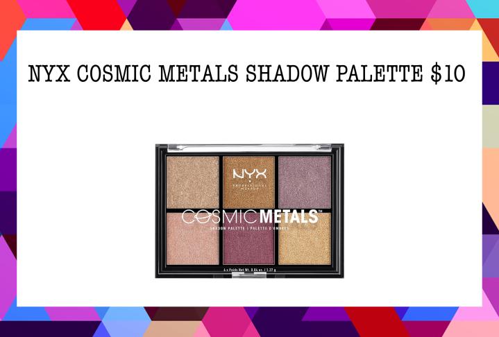 Best Eyeshadow Palettes Under $20 - 3. NYX COSMIC METALS SHADOW PALETTE $10
