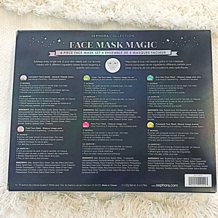 FACE MASK MAGIC SEPHORA CHRISTMAS SET 2018