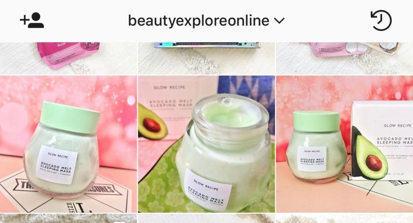 Beautyexploreonline Instagram Glow Recipe Review Avocado Melt Sleeping Mask