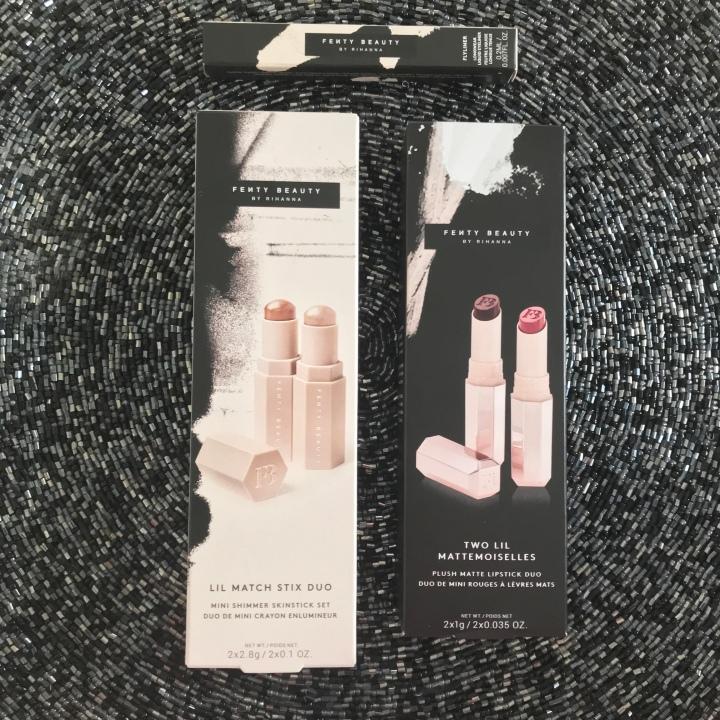 New Fenty Items from Sephora Unboxing -  Fenty Shimmer Sticks, Flyliner, and Mattemoiselle Plush Matte Lipstick