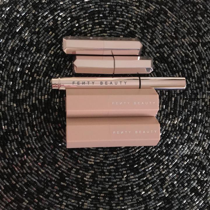Fenty Beauty by Rihanna Review Shimmer Sticks, Flyliner, and Lipsticks